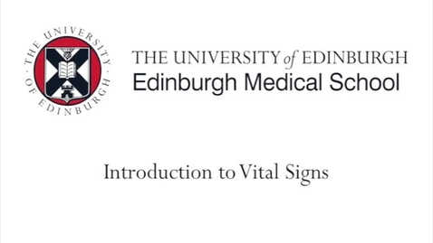 Thumbnail for entry Introduction to vital signs