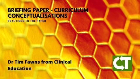 Thumbnail for entry Reactions to Curriculum Conceptualisations - Dr Tim Fawns