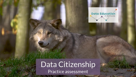 Thumbnail for entry Data Citizenship Level 4-5 Zoo activity Part 6a