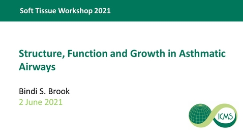 Thumbnail for entry Structure, function and growth in asthmatic airways - Dr Bindi Brook