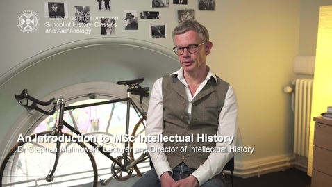 Thumbnail for entry An introduction to MSc Intellectual History