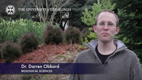 Thumbnail for entry Darren Obbard - Biological Sciences- Research In A Nutshell - School of Biological Sciences -28/04/2013