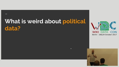 Thumbnail for entry Well structured political data for the whole world: impossible utopia, or Wikidata at its best? - Lucy Chambers & Tony Bowden (MySociety)
