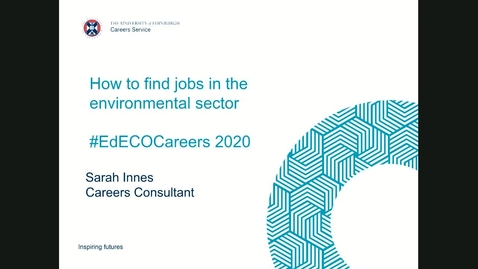 Thumbnail for entry How to find jobs in the environmental sector