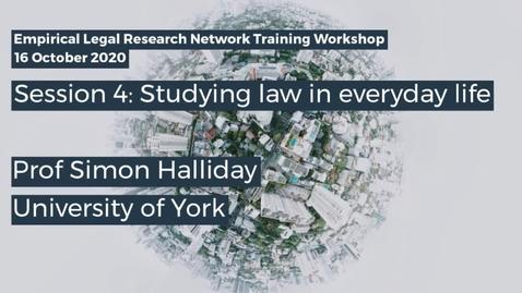 Thumbnail for entry ELRN 2020 Session 4 - Prof Simon Halliday