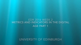 Thumbnail for entry EDR Week 2 Metrics and Indicators part 1 Introduction
