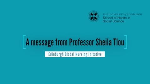 Thumbnail for entry Edinburgh Global Nursing Initative - a message from Sheila Tlou