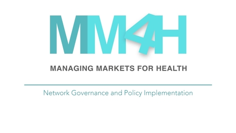 Thumbnail for entry Network Governance and Policy Implementation
