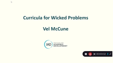 Thumbnail for entry Curricula for Wicked Problems