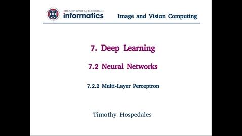 Thumbnail for entry 7.2.2 Multi-Layer Perceptron