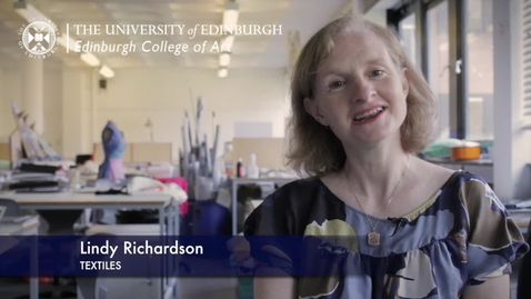 Thumbnail for entry Lindy Richardson -Textiles - Research In A Nutshell-Edinburgh College of Art-13/11/2012