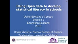 Thumbnail for entry Tom Macintyre | Module 28 Session 2 Using census data - Secondary Maths