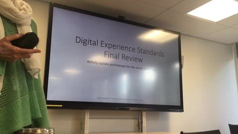 Thumbnail for entry Digital Experience Standards User Group Briefing 3