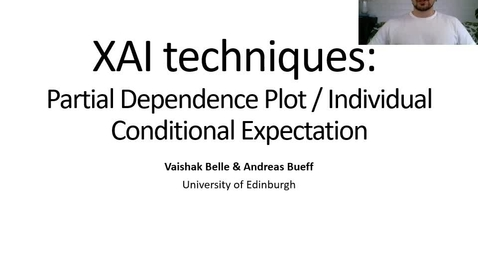 Thumbnail for entry XAI Lecture Recording: PPD/ICE (Part 1)