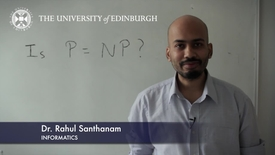Thumbnail for entry Rahul Santhanam - Informatics - Research In A Nutshell - School of Informatics -19/03/2013