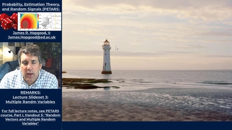 Thumbnail for entry Topic 30: Gull's Lighthouse Problem (PETARS, Chapter 5)