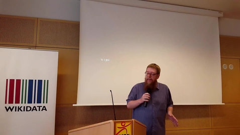 Thumbnail for entry Soliciting and managing mass data donations for Wikidata - Andy Mabbett at WikiCite 2017