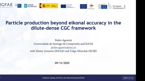 Thumbnail for entry REF2020: Pedro Augusto Agostini-  Particle production beyond eikonal accuracy in dilute-dense CGC framework