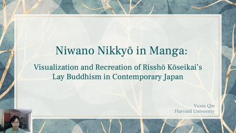 Thumbnail for entry Yuxin Qin - Niwano Nikkyō in Manga