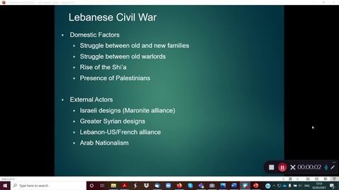 Thumbnail for entry 4B Lebanon Precarious Republic part 2