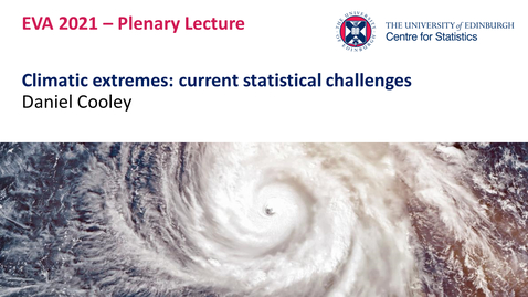 Thumbnail for entry Plenary Lecture II: Daniel Cooley