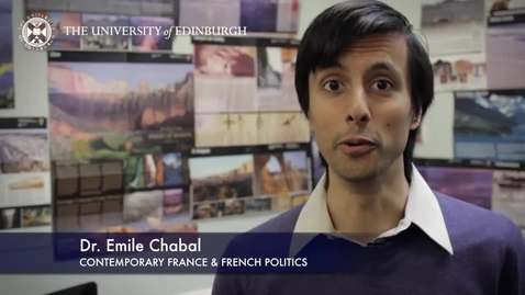 Thumbnail for entry Dr Emile Chabal -Contemporary France & French Politics- Research in a Nutshell