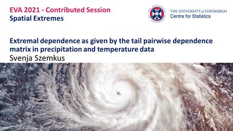 Thumbnail for entry Spatial Extremes: Svenja Szemkus