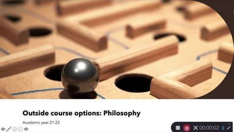 Thumbnail for entry Philosophy outside course options: 21-22