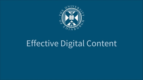 Thumbnail for entry Objectives - Effective Digital Content