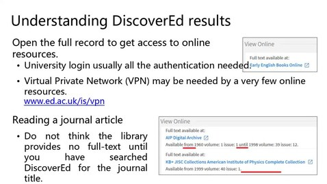 Thumbnail for entry How to access library resources digitally/in person
