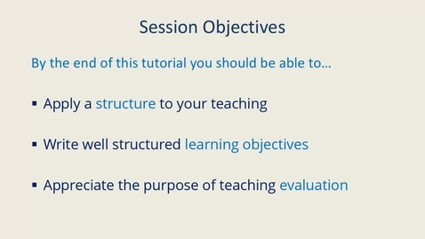Thumbnail for entry Planning and Evaluating Your Teaching 24 November 2020