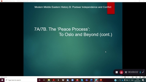 Thumbnail for entry 7B The 'Peace Process' part 1