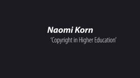 Thumbnail for entry Naomi Korn ' Copyright In Education '