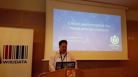 Thumbnail for entry Citoid performance for news article citations on Wikipedia - Andrew Lih and Robert Fernandez (WikiCite 2017)