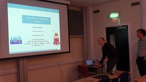 Thumbnail for entry Exotic Hadron Spectroscopy 2017 - Using TensorFlow for amplitude analyses, Dr. Anton Poluektov (University of Warwick)
