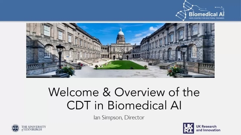 Thumbnail for entry UKRI CDT in Biomedical AI