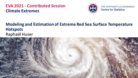 Thumbnail for entry Climate Extremes: Raphaël Huser