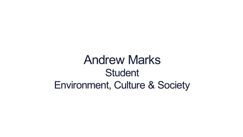 Thumbnail for entry Hear from our students: MSc Environment, Culture and Society