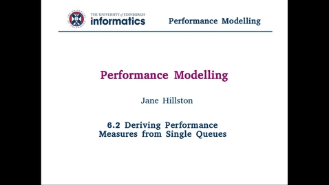 6.2 Deriving Performance Measures from Single Queues