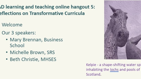 Thumbnail for entry Reflections on Transformative Curricula - 2021 03 24