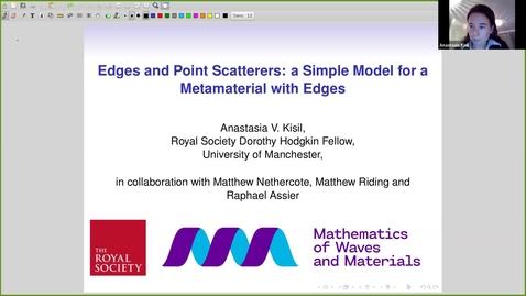 Thumbnail for entry RCMM Wave scattering and Solid Mechanics - Anastasia Kisil, (The University of Manchester)