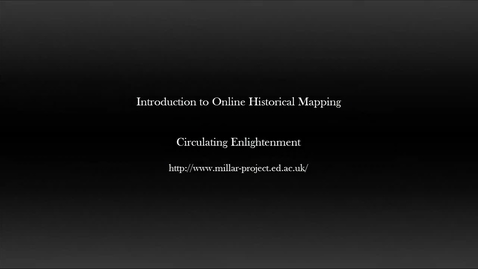 Thumbnail for entry Malt Tax Riots - Introduction to Historical Mapping