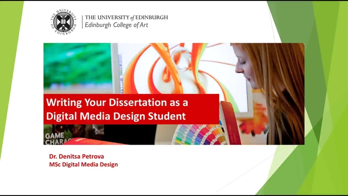 Dissertation Tips - Digital Media Design