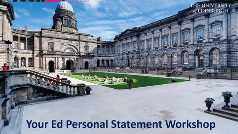 Thumbnail for entry Your Ed Personal Statement Workshop