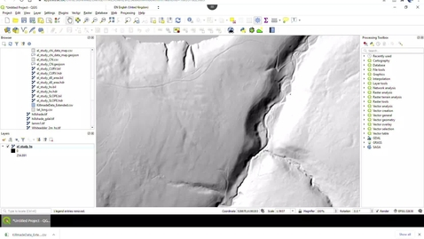Thumbnail for entry Eroding landscapes: QGIS loading csv