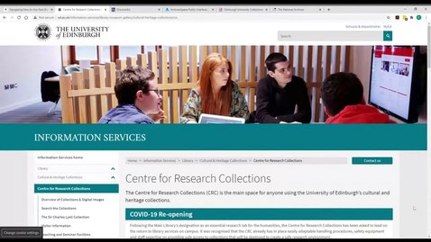 Thumbnail for entry PG How to use the Centre for Research Collections