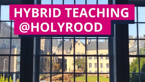 Thumbnail for entry Hybrid teaching mock classroom 2