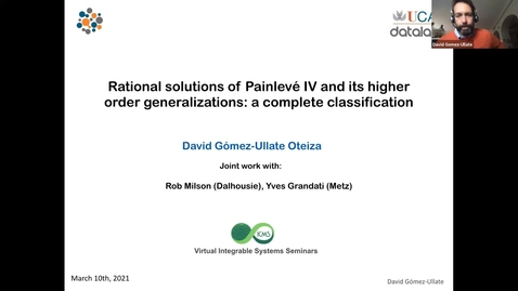 Thumbnail for entry Complete classification of rational solutions of A_2n-Painlevé systems - David Gómez-Ullate Oteiza