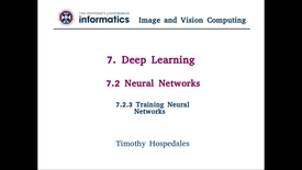 Thumbnail for entry 7.2.3 Training Neural Networks