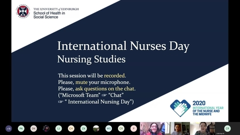 Thumbnail for entry International Nurses Day 2020 event - Welcome